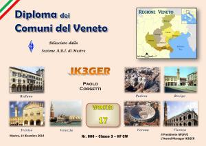 Diploma dei Comuni Del Veneto